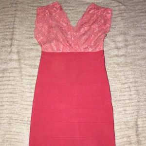Sexy Bebe  Bodycon Dress - Pink